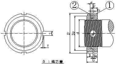 HLB ベアリングナット 寸法図